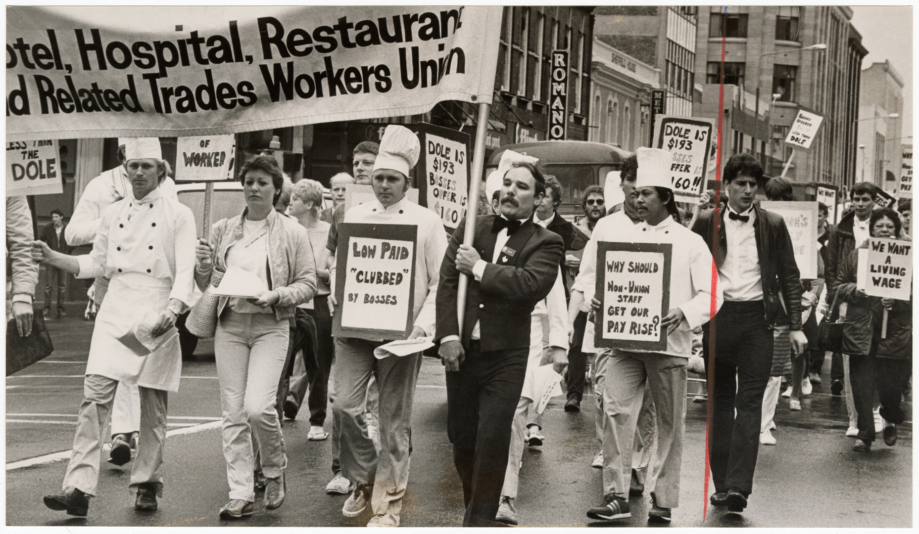 Hotel workers' protest