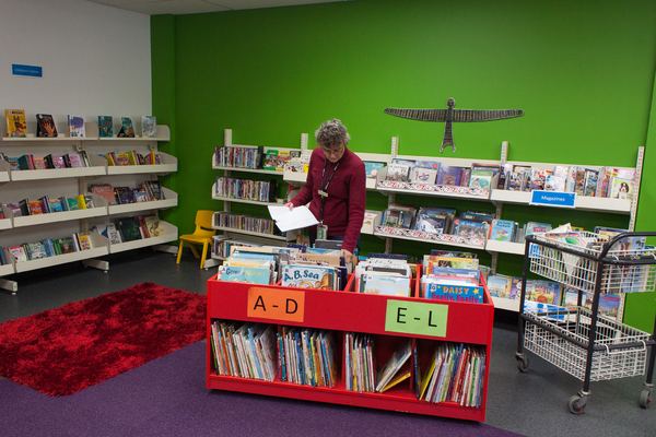 Children's section in the temporary New Brighton Library