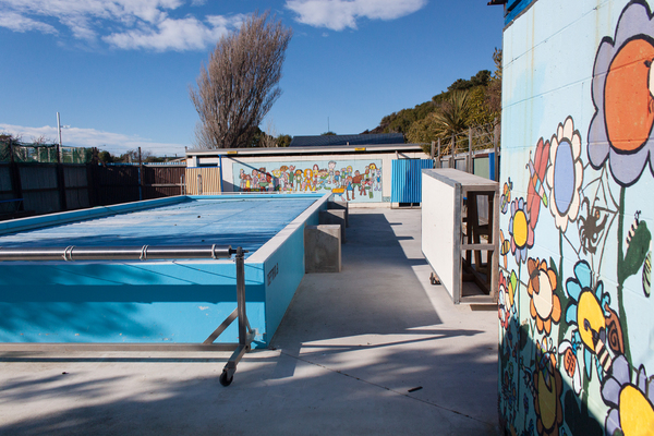 Newly painted pool at South New Brighton School
