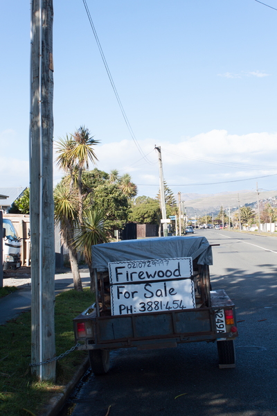 Firewood for sale, Rocking Horse Road, Southshore