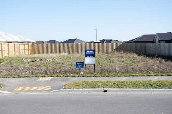Empty section for sale in Wigram Skies subdivision