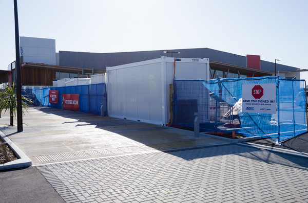 New World supermarket construction at Wigram Skies
