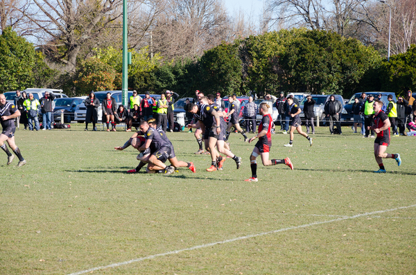 Riccarton Knights vs Hornby Panthers rugby match