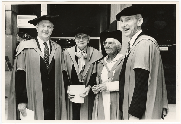 Four recipients of honorary doctorates