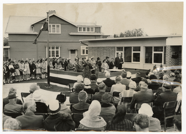 Opening ceremony at Hornby Post Office