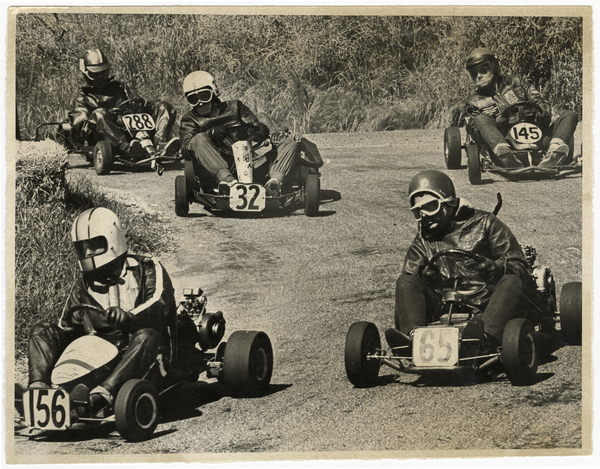 Start of the Heathcote Valley Go-kart Grand Prix
