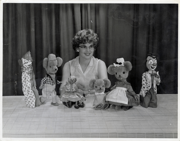 Alison Comfort with the The Merrie-Midgets puppet troop