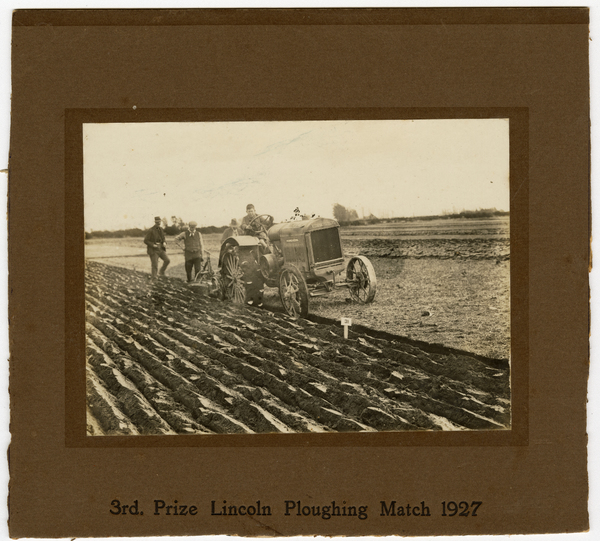 Lincoln Ploughing Match, third prize