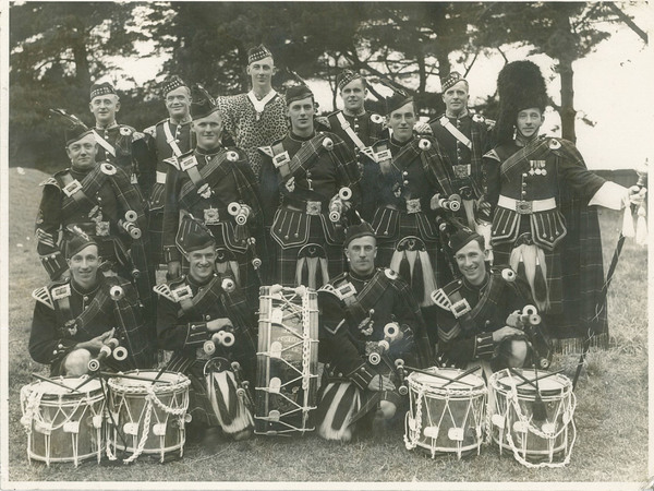 Scottish Society Pipe Band, winners of the B Grade Championship