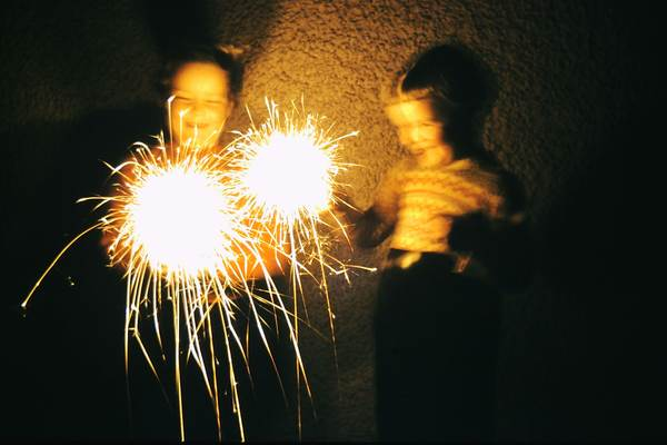 The excitement of sparklers on Guy Fawkes night