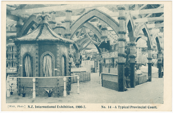 N.Z International Exhibition 1906-7. No. 14 - A Typical Provincial Court.