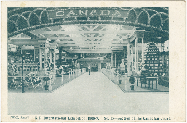 N.Z International Exhibition 1906-7. No. 15 - Section of the Canadian Court. Webb, Photo