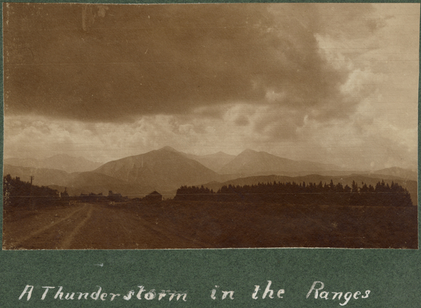A thunderstorm in the Ranges