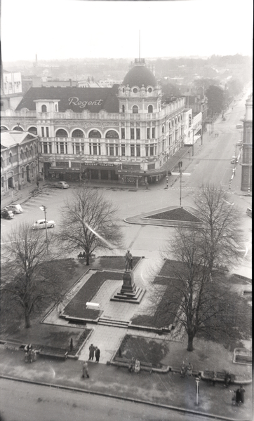 Looking down on the Square