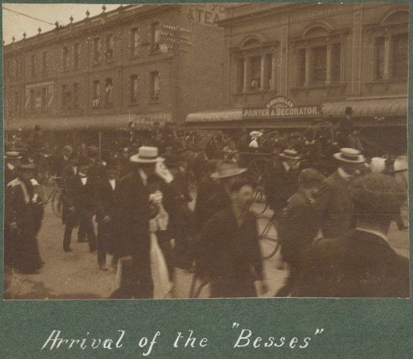 "Arrival of the ""Besses"""
