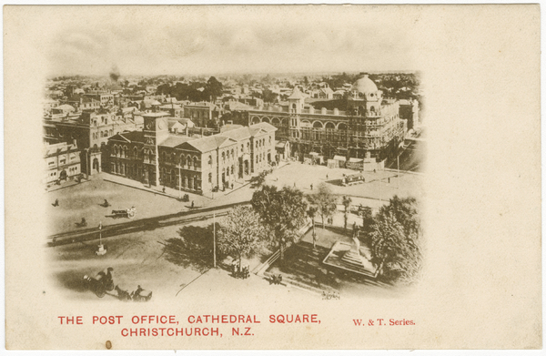 The Post Office, Cathedral Square, Christchurch. N.Z.
