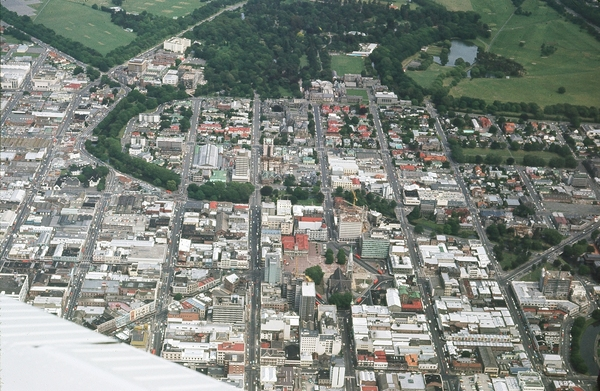 Aerial view of Central Christchurch, 1961
