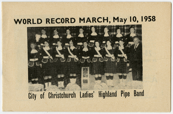 Ladies Highland Pipe Band World Record March, 1958