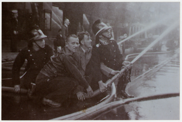 Firemen at Ballantynes Fire 1947