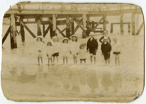 The Clarkson family at Sumner Beach, 1902 or 3