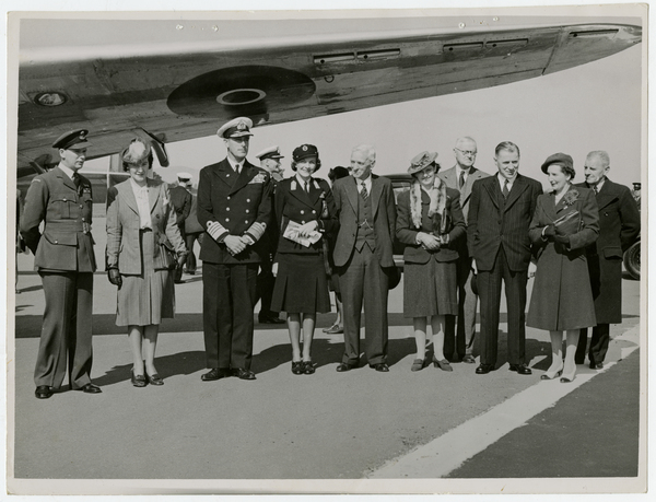 Lord and Lady Mountbatten at Wigram Airport