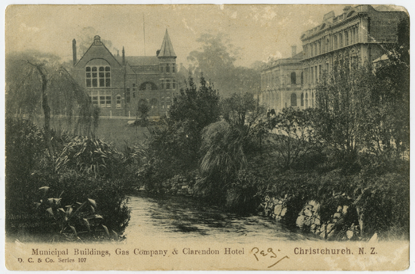 Municipal Buildings, Gas Company and Clarendon Hotel