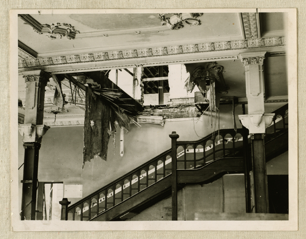 Municipal Electricity Department main stairway during demolition