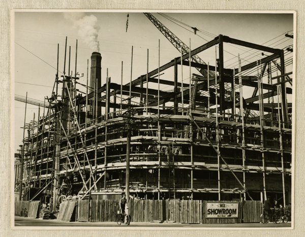 Construction of the Municipal Electricity Department building