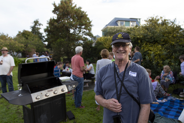 Barry, community barbeque, Moa Reserve