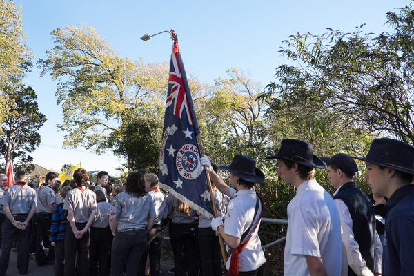 Boys Brigade assemble for the Anzac Day Parade