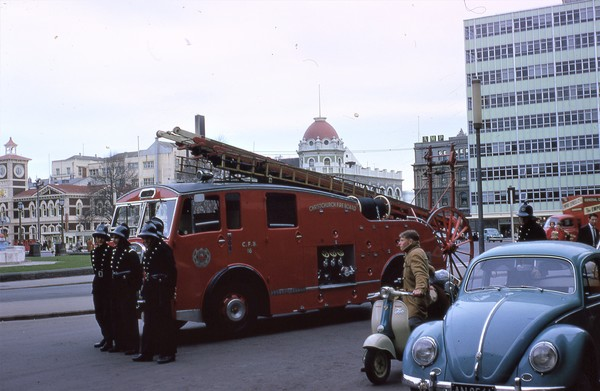 Fire Truck in Cathedral Square
