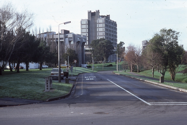 University of Canterbury campus from Ilam Road