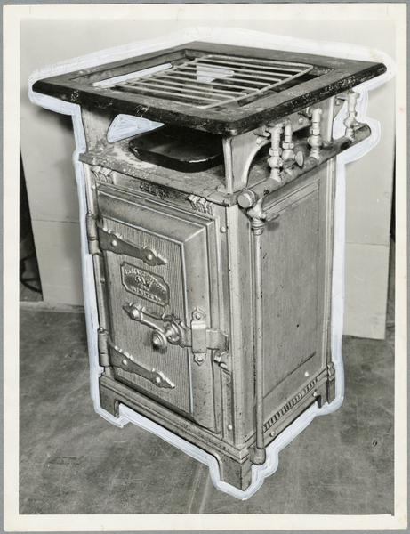 Early Christchurch Gas Company stove