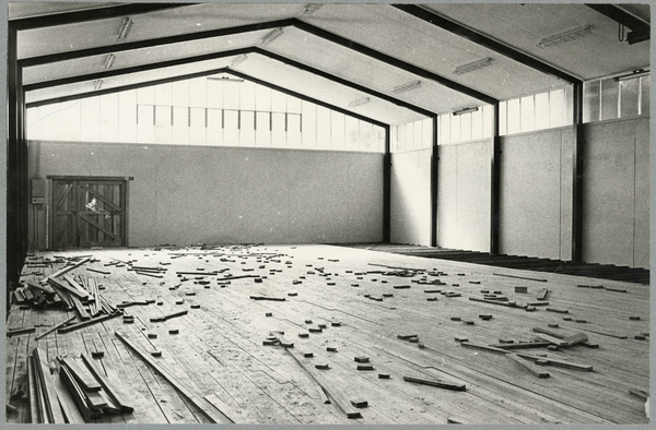 Construction of Christchurch Teachers College gymnasium
