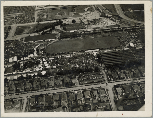 Aerial view of Addington showgrounds
