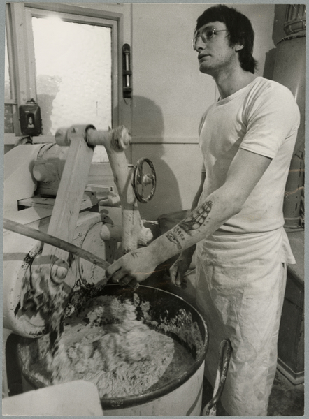 Mixing dough at Home Bakery