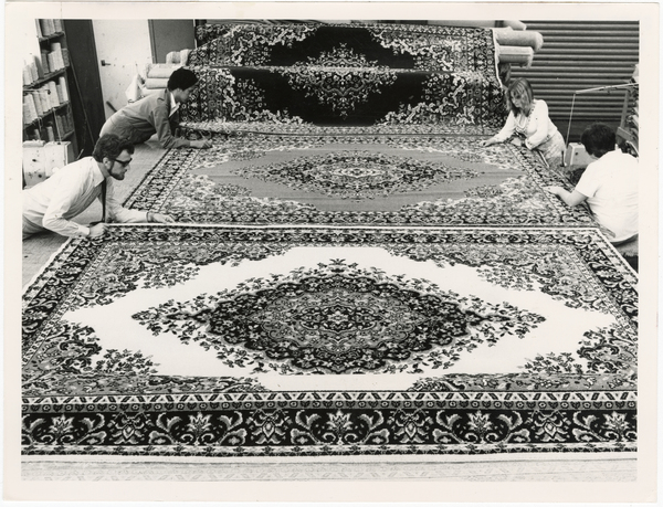 Inspection of Persian rugs