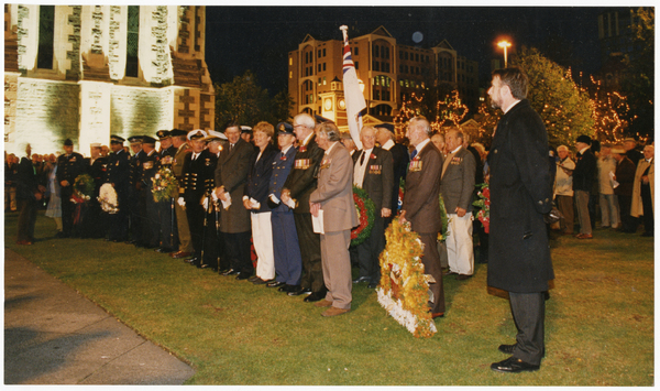 Image of Anzac Day dawn service in Cathedral Square