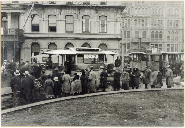 Trams in the Square