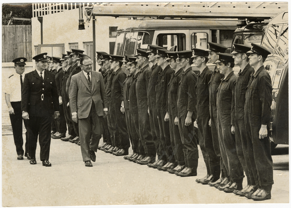 Inspection of new firefighters