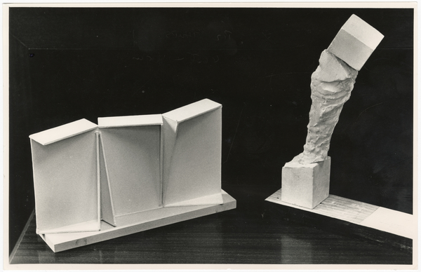 Models of steel sculpture and marble statue