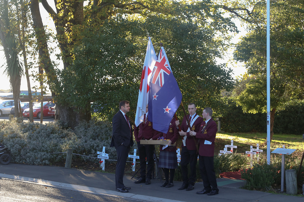 Cashmere High School students at Anzac Day memorial service