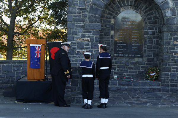 Cadets at Anzac Day memorial service