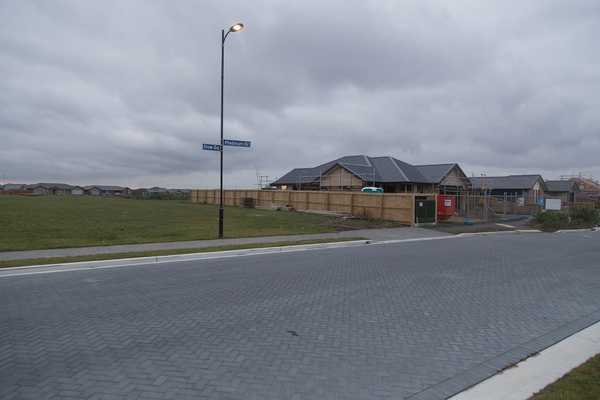 Houses under construction, Hikuwai subdivision in Wigram