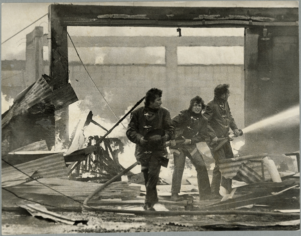 Firefighters at Madras Joinery Service Limited