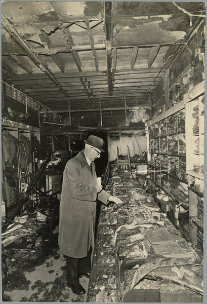 Ralph Gracie in his fire damaged shop