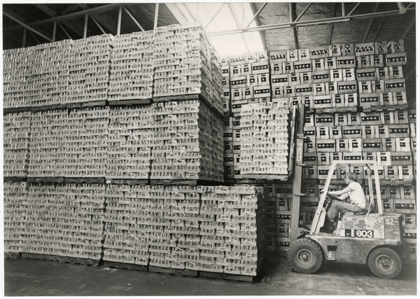 Pallets of Coca Cola at Southern Bottlers