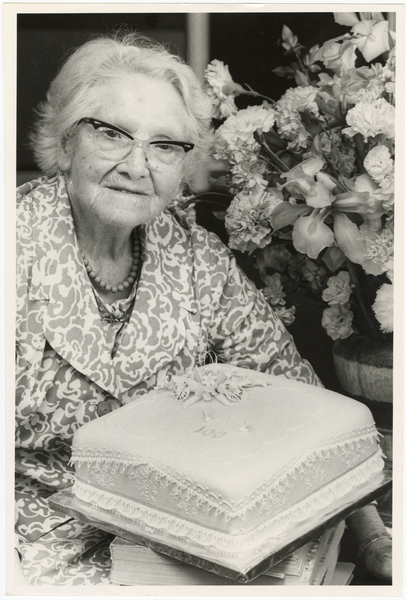 Margaret McKinlay on her 100th birthday