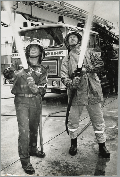 Old and new firefighting protective clothing