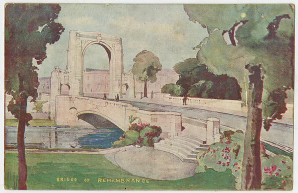 Postcard of the Bridge of Remembrance